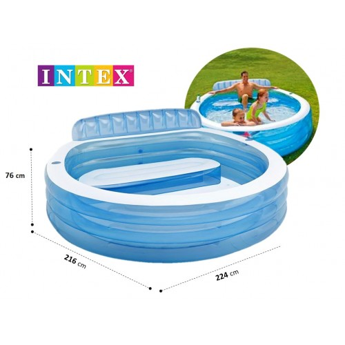 Porodični bazen Intex Lounge 224 x 216 x 76 cm