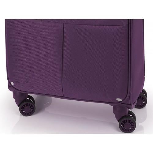 Putni kabinski kofer Daisy purple 39x55x20 cm