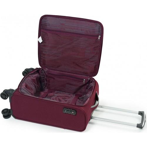 Putni kabinski kofer Zambia dark red 38x55x20 cm