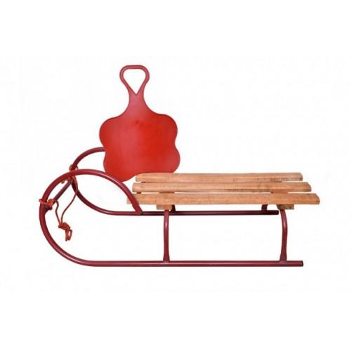 Sanke za decu sa metalnom konstrukciom i poklonom klisko crvene