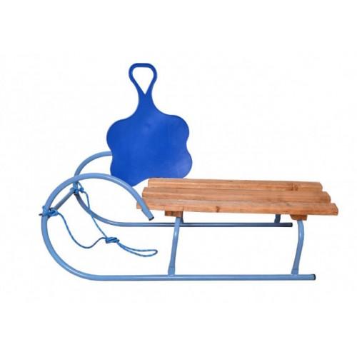 Sanke za decu sa metalnom konstrukciom i poklonom klisko plave