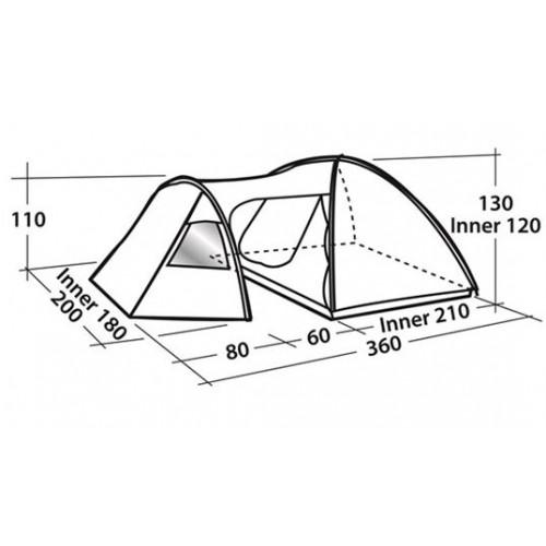 Šator za tri osobe Easy Camp Eclipse 300