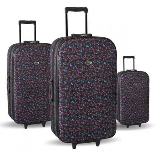 Set kofera za putovanje 3/1 Sazio Cairo Flowers