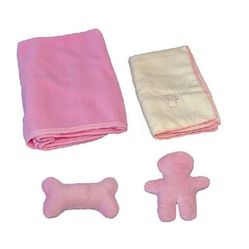 Prostirka - ćebence i peškir za štence Trixie pink