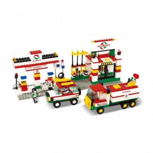 Sluban kocke Benzinska stanica sa vozilima 41 kom