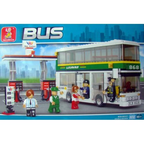 Sluban kocke dvospratni autobus