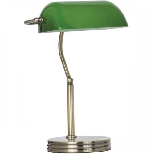 Stona bankarska lampa EL7940 staro zlato
