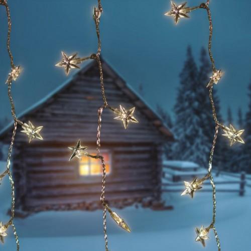 Svetleća LED zavesa Star hladno bela za spoljašnji i unutrašnji prostor