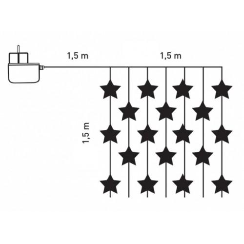 Svetleća LED zavesa za spoljačnji i unutrašnji prostor