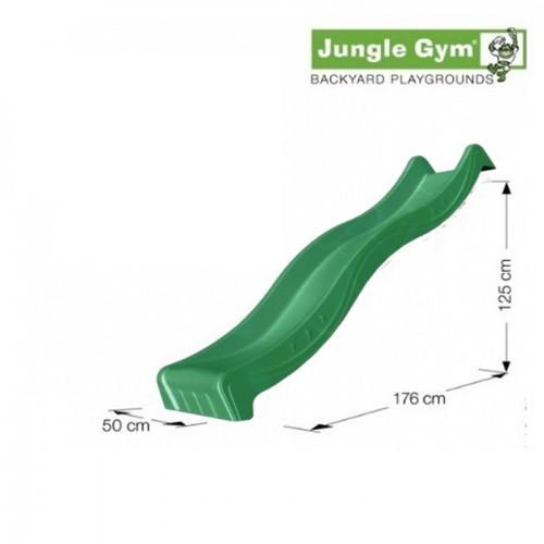 Tobogan vodeni spust od 220 cm tamno zeleni