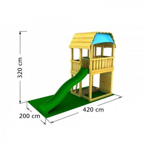 Toranj za decu sa toboganom Barn