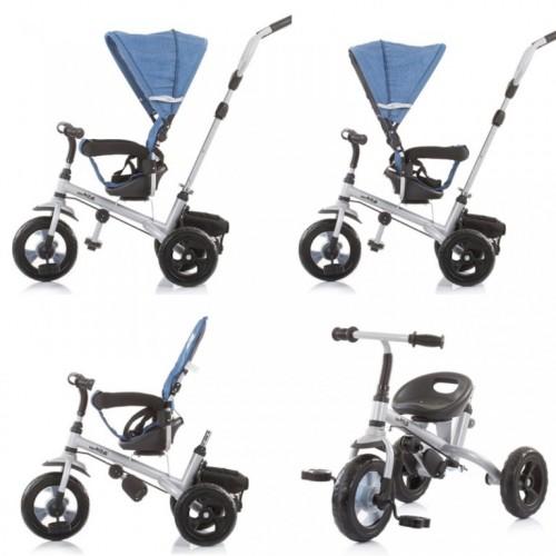 Tricikl 3 u1 Chipolino Max Ride sa rotirajućim sedištem Jeans