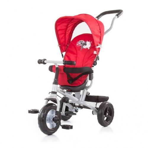 Tricikl 3 u1 Chipolino Max Ride sa rotirajućim sedištem Crveni