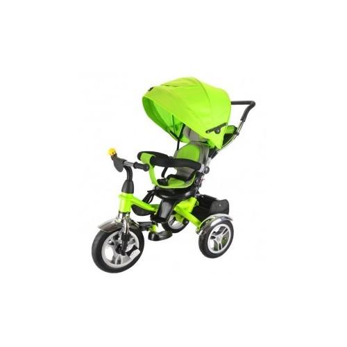 Tricikl 408 Playtime Lux sa rotirajućim sedištem zeleni