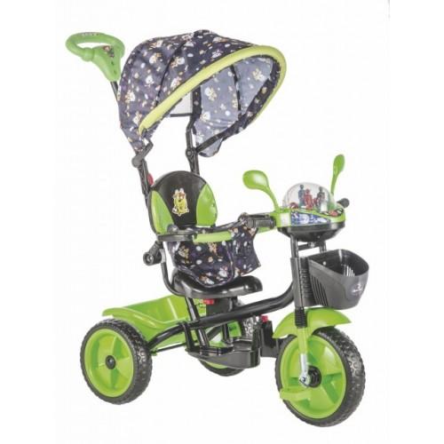 Tricikl za decu Play zeleno-crni - zvučni i svetlostni efekti