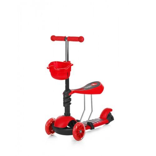 Trotinet Kiddy Red sa svetlećim točkovima