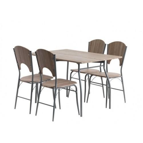 Trpezarijski sto Holm + 4 stolice hrast