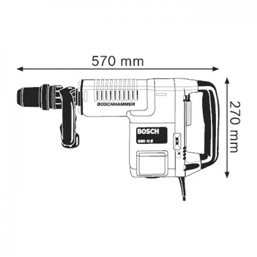 Elektro-pneumatski čekić za štemovanje Bosch GSH 11 E Professional