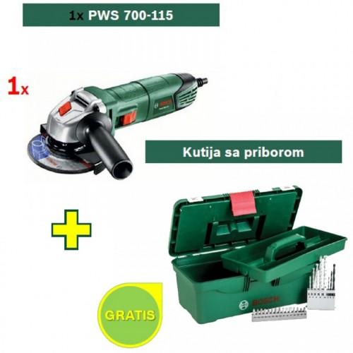 Ugaona brusilica Bosch PWS 700-115 + Kutija sa priborom GRATIS