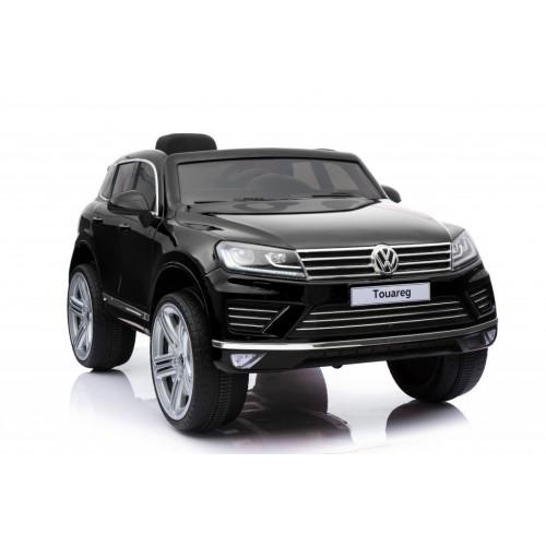 Auto na akumulator Volkswagen Touareg Licencirani  sa kožnim sedištem i mekim gumama - Crni