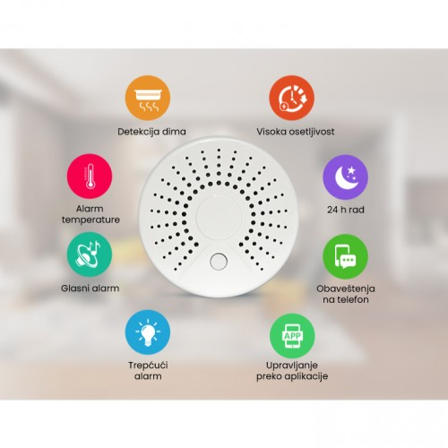 Wi-Fi smart detektor dima