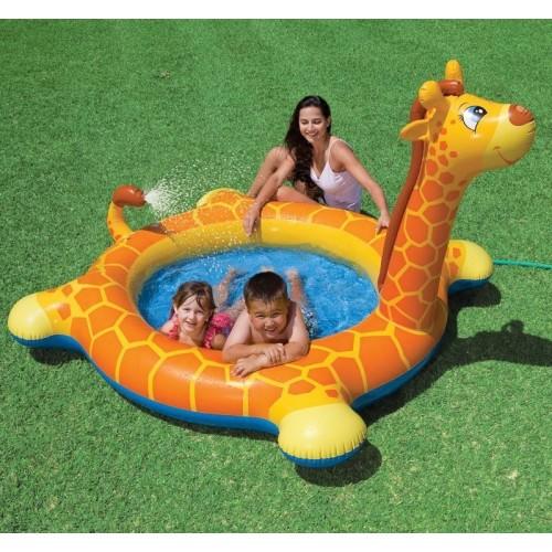 Bazen za decu sa prskalicom Žirafa