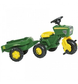 Traktor na pedale Trike sa prikolicom zeleni