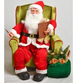 Muzički deda Mraz u fotelji 81 cm
