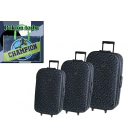 Set od 3 kofera Cairo Black Pattern + poklon torba