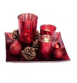 Novogodišnji svećnjak RED