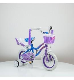"""Bicikl 12"""" sa pomoćnim točkovima 716 Ljubičasta"""