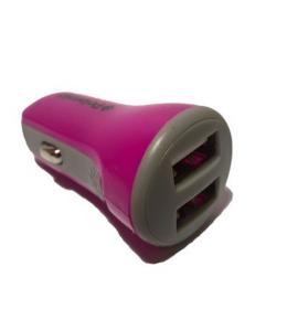 Auto punjač Polaroid 2USB 2.1A pink