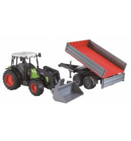Traktor sa prikolicom i kašikom CLAAS  Bruder 021122
