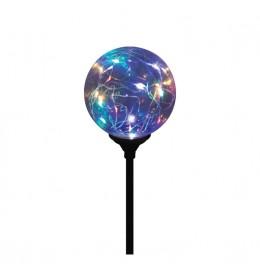 Solarna baštenska lampa sa staklenom loptom