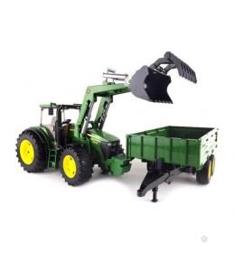 Traktor John Deere sa kašikom i prikolicom Bruder