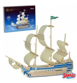 3D drvene puzzle - brod Gothenburg