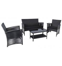 Baštenski set Toledo- 2 Fotelje, Sofa i Sto sa staklom