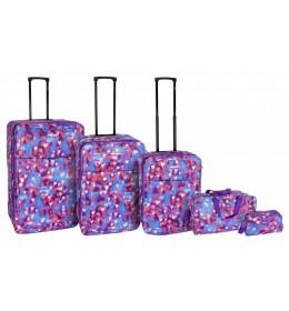 Set 5/1 Purple Hearts Enova Marbella set kofera 3/1, putna torba i neseser 508.140.34