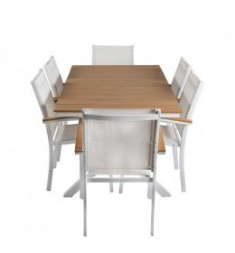 Baštenska garnitura Merida sto + 6 stolica