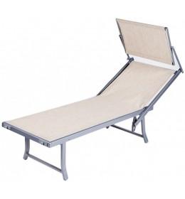 Ležaljka za plažu sa tendom bež Bali