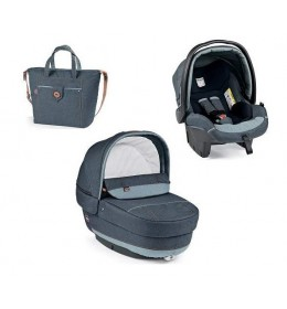 Set nosiljka, autosedište i torba Modular Elite Blue Denim