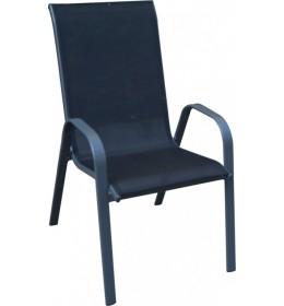 Baštenska stolica Como crna