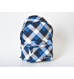 Ranac za školu Xpack blue karo 160161