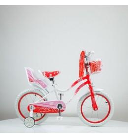 """Bicikl 16"""" sa pomoćnim točkovima 716-16 Crveni"""