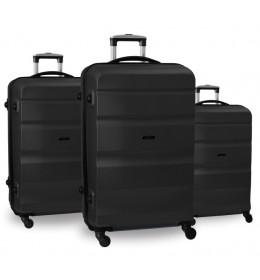 Set ABS kofera 3/1 Porto u crnoj boji