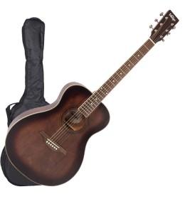 Akustična gitara sa torbom, stalkom i štimerom Vintage V300AQOFT