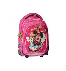 Ranac sa točkićima Minnie Mouse pink