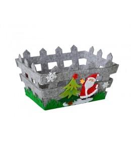 Ukrasna novogodišnja korpica deda Mraz