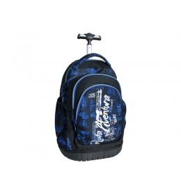Ranac za školu sa točkićima blue 160110