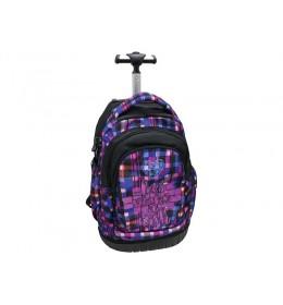 Ranac za školu sa točkićima purple 160112